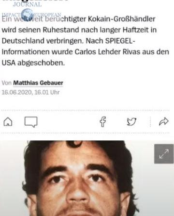 «Spiegel»: annonce la libération de Carlos Lehder, l'ex bras droite de Pablo Escobar