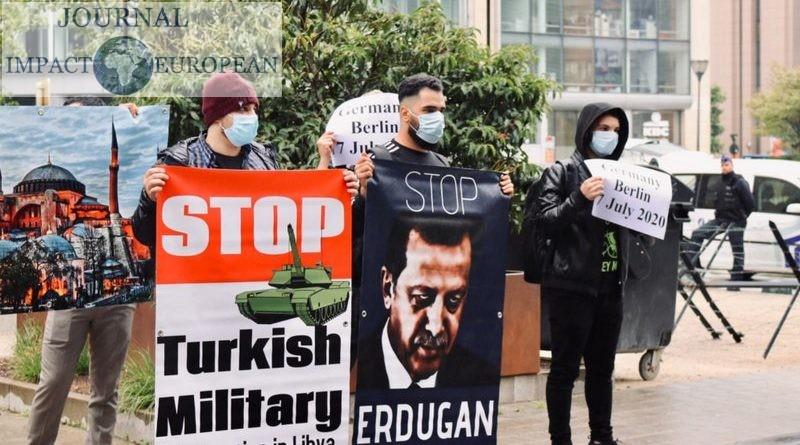 Manifestation à Bruxelles: Arrêtez l'intervention militaire turque en Libye