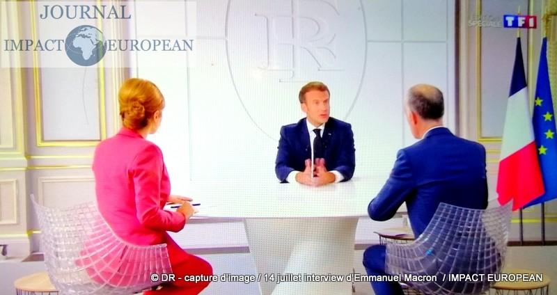 14-Juillet : une interview d'Emmanuel Macron entre mea culpa et masques obligatoires, plan de relance  économique, impôts, ce qu'il faut retenir