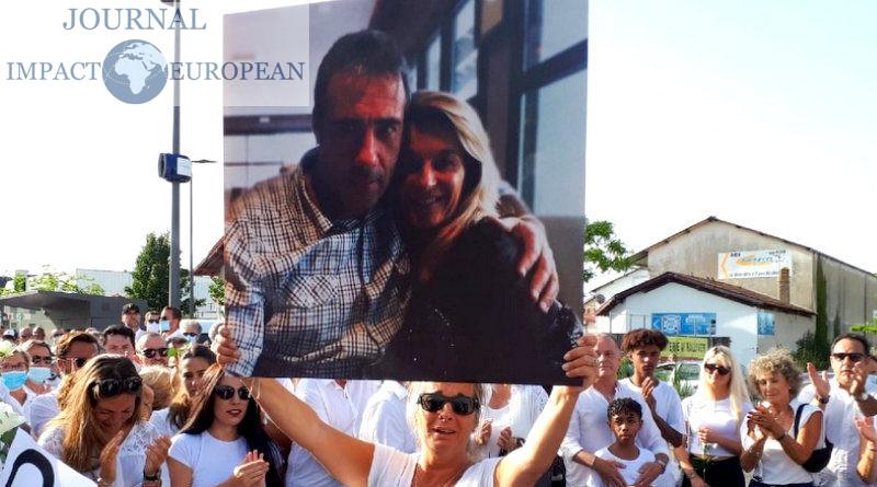 Bayonne: Marche blanche en l'honneur du conducteur de bus Philippe Monguillot