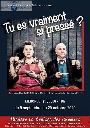 Chantal Péninon et Denis Tison rattrapent le temps à la Croisée des chemins