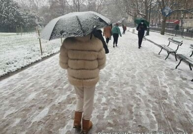 Les premiers flocons de neige  à Paris et dans le nord de la France