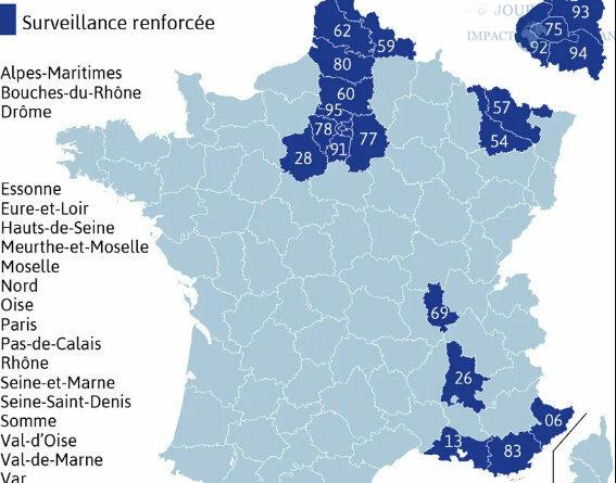 La situation sanitaire «est très préoccupante dans 20 départements»