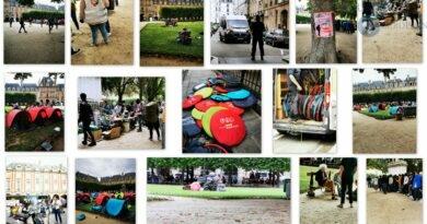 Mise à l'abri des sans-abris de la Place des Vosges  par la Mairie de Paris.