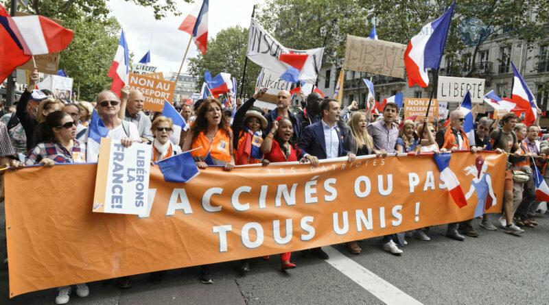 Manifestations contre le pass sanitaire à travers la France